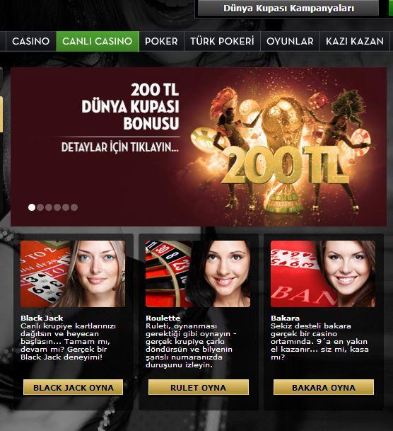 canli casino oyunlari nelerdir